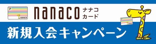 nanaco新規入会キャンペーン セブンイレブンで合計300ポイントプレゼント 8月6日まで