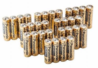 Amazonでパナソニックの乾電池32本パックが47%OFFの780円から販売中