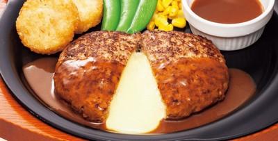 ガストの看板メニュー「チーズINハンバーグ」が399円に 3月28日まで