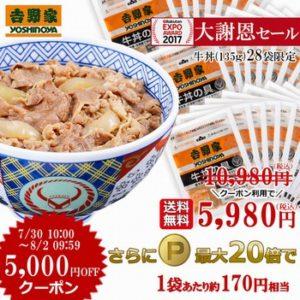 吉野家の牛丼の具28袋セット
