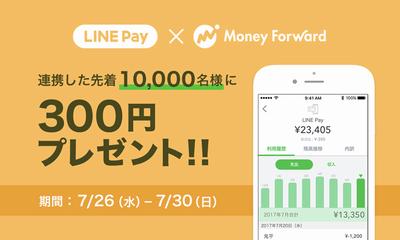 LINE Pay×マネーフォワード連携記念キャンペーン