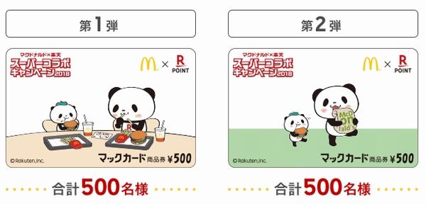 マックカード楽天お買いものパンダデザイン