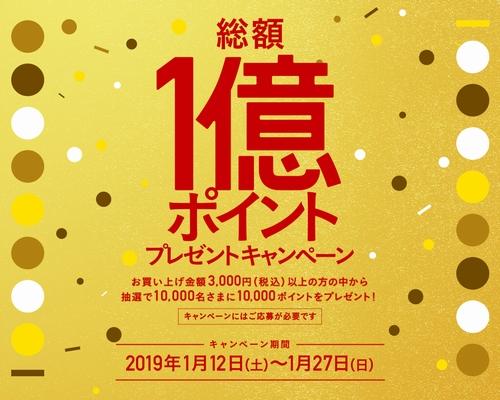 WAON POINT総額1億ポイントプレゼントキャンペーン
